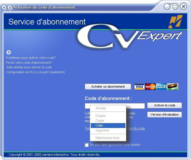 cv expert 4 gratuit